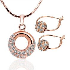 S170 Fashion Nickel and lead free mixed styles  gold  jewelry set