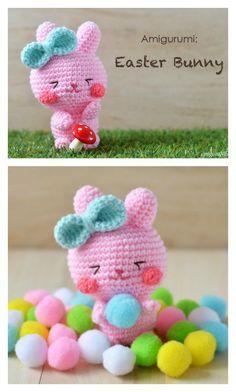 Ganchillo Pascua conejito Amigurumi Patrón gratuito