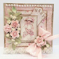 So soft and beautiful. <3 This card are created with papers from MajaDesign's Sofiero collection, by Mary Gourley. #card #cardmaking #cardinspiration #papercraft #papercrafting #papercrafts #scrapbooking #majadesign #majadesignpaper #majapapers #inspiration #vintage