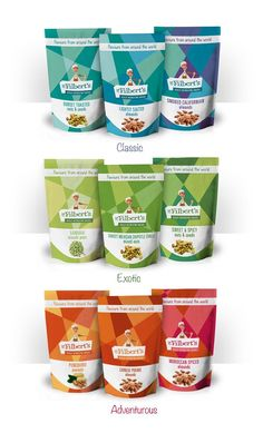 color coded | Mr. Filberts #packaging Re-design concept by Nuria Rodríguez, via ...