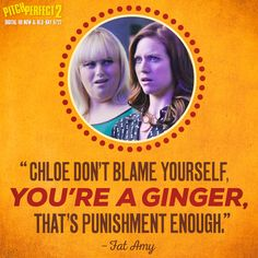 Fat Amy is always so supportive. Movie Quotes, Funny Quotes, Funny Memes, Pitch Perfect 1, Fat Amy, Everything Funny, 2 Movie, Lol, Bellisima