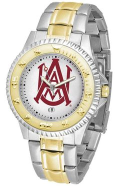 NCAA Men's Alabama A&M Bulldogs Competitor Two-Tone Watch