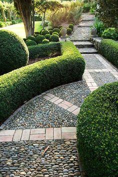 french designer garden path