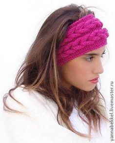 How to Knit a Braided Headband Step By Step - Stirnband stricken Cable Knitting Patterns, Loom Knitting, Free Knitting, Knit Headband Pattern, Knitted Headband, Knitted Hats, Knit Crochet, Crochet Hats, Top Braid