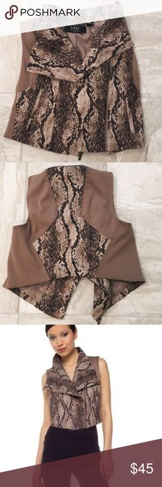 Dash by Kardashian Snake Print Vest This vest is in like new condition! Feel free to make an offer or add some listing to a bundle for a major discount! Thanks for checking out my closet & I'd be happy to answer any questions. Kardashian Kollection Jackets & Coats Vests