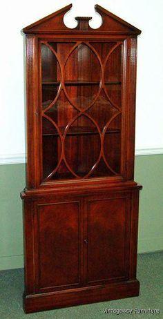 Superieur $395.00   6251: Lovely Vintage C1940s Flame Mahogany Corner Cabinet.  Www.vintagewayfurniture.