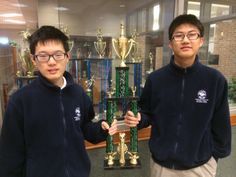 """Two American Heritage School students (9th graders in fact!) competed last week in the 1A/2A combined state high school chess tournament. Bobby Zhou and Gabriel Zhao walked away with 1st and 5th places, respectively, and 2nd place in the team competition! We're so proud of these two great young men and happy for their accomplishments. They clearly were not distracted by the """"good"""" moves. Way to go, Bobby and Gabriel! American Heritage School, School Community, Young Men, Chess, Gabriel, Bobby, Competition, High School, Students"""