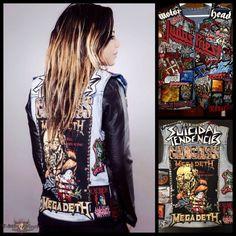 Salumae's Megadeth, Carcass, Suicidal Tendencies, Kutte Battle Jacket   TShirtSlayer