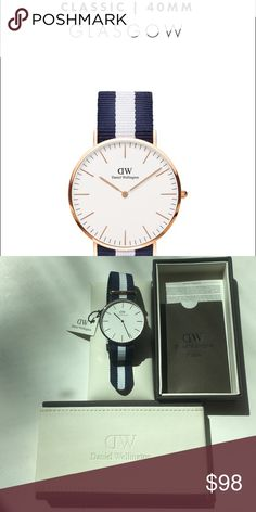 Daniel Wellington Glasgow Rose Gold watch This is a beautiful watch that celebrates the timeless and elegant nautical spirit, capturing the essence of a summer by the ocean.  Worn once for a photoshoot. Daniel Wellington Jewelry