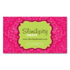 Cupcake bakery pink elegant modern cute business card business cute bright and whimsical bakery business card reheart Images