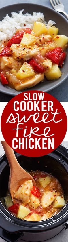 Slow Cooker Sweet Fire Chicken recipe | Creme de la Crumb