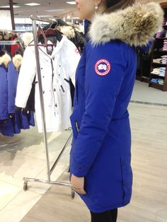 Canada Goose Kensington Parka: Long and slim-fitting, the Kensington Parka is equally appropriate for strolling a city street or hiking a snowy trail. With smart Military buttons, waist-cinching adjustable straps, and recessed rib knit cuffs, the Kensington is a modern take on a traditional style.  http://www.freeds.com/catalog/product/view/id/20234/s/canada-goose-ladies-kensington-parka/category/208/