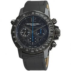 e241f22f0f7a Raymond Weil Men s 7810-BSF-05207 Nabucco Rivoluzione Chronograph Automatic  Black Leather Watch