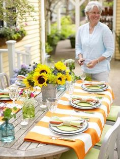 tablecloths used in a beautiful way