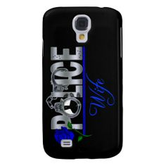 Blue Rose POLICE WIFE  Samsung S4 Case