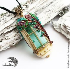 Handmade lampwork window pendant by korhinstein
