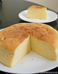 Japanese Cheesecake | Super light, fluffy, melt-in-your-mouth goodness. {Finally!  A Japanese Cheesecake recipe that uses standard US measurements!}