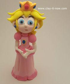 princess peach clay - princess toadstool - peach from super mario games - free tutorial