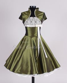 Petticoatkleid with Bolero: I want it in Burgundy (Weinrot) with black lace, black trim and black petticoat.