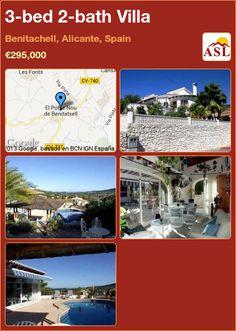 3-bed 2-bath Villa in Benitachell, Alicante, Spain ►€295,000 #PropertyForSaleInSpain