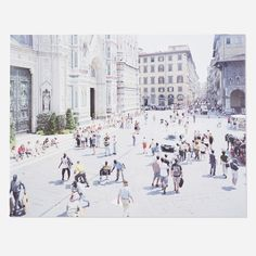 Lot 177: Massimo Vitali b.1944. Firenze Via Via (from the Landscapes with Figures portfolio). 2006, offset lithograph on 300g Consort Royale paper. 26 h x 33¾ w in. estimate: $2,000–3,000. Sheet measures: 27.5 h x 35.25 w in Stamped with publisher's mark to verso 'Massimo Vitali Steidl Verlag, Göttingen for Brancolinigrimaldi Edition No. 004/120 Sheet No.28'. This work is number 4 from the edition of 120 printed by Brancolinigrimaldi and published by Steidl Verlag, Göttingen....