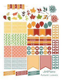 PRINTABLE Erin Condren Planner Autumn Weekly Kit by JWPlans