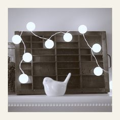 Ping pong ball holiday lights.