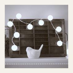 Ping pong ball holiday lights.