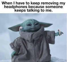 Yoda Meme, Yoda Funny, Cute Memes, Funny Memes, Hilarious, Geek Room, Funny True Quotes, Star Wars Pictures, Everything Funny