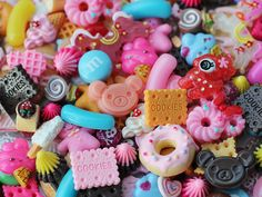 50pcs decoden cabochon mix / miniature resin sweets by snapcrafty