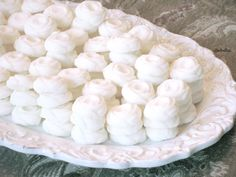 Buttery Cream Cheese Mints Recipe  Weddings, baby showers, parties, teas and luncheons. What do these events have in common? They all need to have these mints on the table or in cute little packages for guests. They are beyond easy to make and require no cooking or baking.
