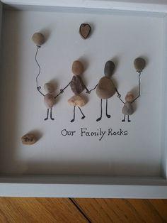 Ich will das machen - DIY Dekoration - Steinbilder - . - I Will Try That! Kids Crafts, Crafts To Do, Arts And Crafts, Kids Diy, Stone Crafts, Rock Crafts, Art Diy, Stone Art, Stone Pictures Pebble Art