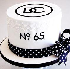 Chanel No.5 inspired birthday cake.