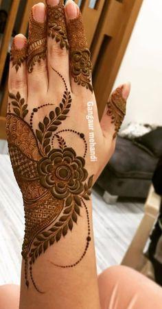 Pretty Henna Designs, Floral Henna Designs, Back Hand Mehndi Designs, Stylish Mehndi Designs, Latest Bridal Mehndi Designs, Full Hand Mehndi Designs, Mehndi Designs Book, Mehndi Designs For Girls, Mehndi Designs For Beginners