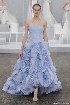 The Hottest 2015 Wedding Dress Trends — Part 3: Colors | Wedding Inspirasi