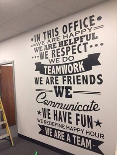 Do not buy***** Need a Custom Office or Home Large Decal? Custom Decals **Contact us first for pricing** Wall Decal -Workout Decal – Fitness – Office Design 2020 Office Wall Decals, Office Walls, Office Decor, Home Office, Church Office, Agency Office, Staff Room, Co Working, School