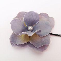Blue Flower Hair Pin -- Cornflower Blue Hydrangea Flower Hair Clip / Bobby Pin - Wedding Hair Accessory on Etsy, $6.00