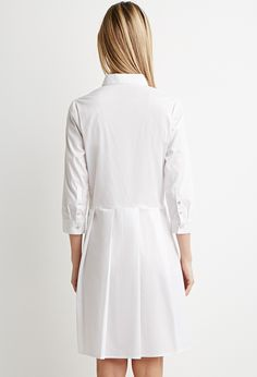 Contemporary Pleated Shirt Dress | Forever 21 - 2000161758