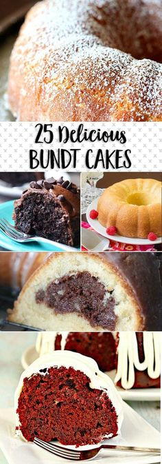 I have 25 delicious bundt cakes for you today! These are some of my most favorite recipes from my site and around the internet! Bundt cakes are perfectly old fashioned in the best way possible. Just Desserts, Delicious Desserts, Dessert Recipes, Bundy Cake, Cake Candy, Pound Cake Recipes, Pound Cakes, Mini Bunt Cake Recipes, Macaron
