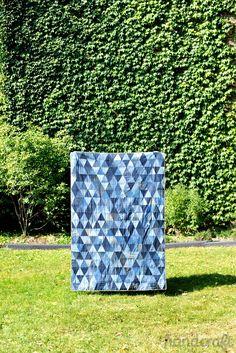Modern Handcraft // Denim Triangle Quilt