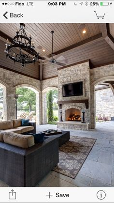 Love the setup of this outdoor patio. / Simmons Estate Homes / Luxury Custom Home Builder / DFW Area Custom Homes / Patio / Outdoor Living - Luxury Interior Outdoor Rooms, Outdoor Kitchens, Outdoor Living Spaces, Outdoor Areas, Indoor Outdoor Kitchen, Ikea Outdoor, Outdoor Kitchen Design, Luxury Kitchens, Outdoor Life