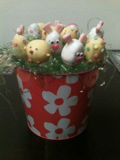 Easter Cake Pops by cakepopolis on Etsy, $25.00