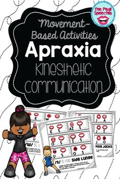 apraxia of speech activities: are you looking for a motivating activity for apraxia of speech, but low on prep time? You'll love this movement-based speech therapy packet for apraxia of speech! The Pedi Speechie