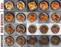 Secret to Grading the Color of Copper Coins Twenty Copper Lincoln pennies arranged by darkening shades of red to brown. - Individual Photos courtesy of Teletrade Coin Auctions, ; Arranged by James BuckiGrade Grade or grading may refer to: