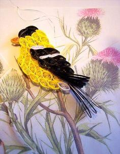 Level: medium // Der Frühling mit all seiner Leichtigkeit // Gesehen bei: Paper Quilling Birds Designs And Ideas - Life Chilli