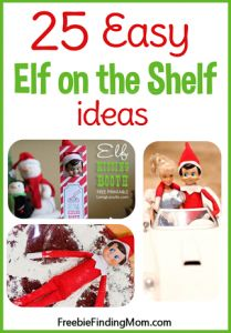 25 easy Elf on the Shelf ideas from FreebieFindingMom.Com. I can't wait to start these!
