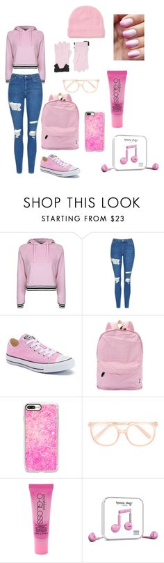 """""""#Good girl style"""" by alondra-lemus909 ❤ liked on Polyvore featuring Topshop, Converse, Casetify, Chloé, Smashbox, Happy Plugs and Kate Spade"""
