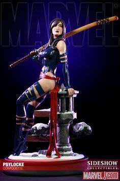 Psylocke | ... Psylocke, ganha sua própria estátua pela Sideshow. Uma amostra da
