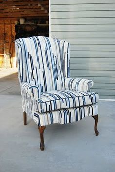 Wingback Chair Upholstery Ideas | Upholstered Chairs | Pinterest | Chair  Upholstery, Wingback Chairs And Upholstery