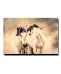 Love this Horses Wrapped Canvas on #zulily! #zulilyfinds